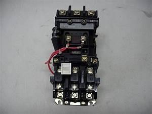 Allen Bradley Nema Size 1 Starter 509 595a Series B