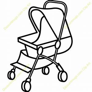 Black clipart stroller - Pencil and in color black clipart ...