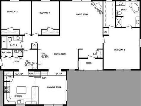 Wide Mobile Home Floor Plans by Single Wide Trailer House Plans Wide Mobile Home