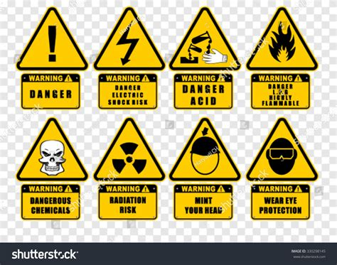 Warning Sign Label Vector Stock Vector 330298145. Determination Signs. Positivity Signs. Universal Signs. Glow In Dark Signs