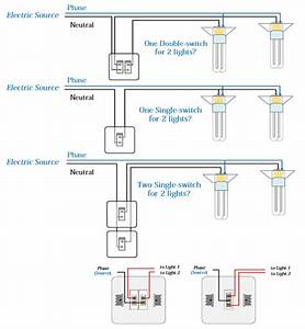 Electrical Double Switch Wiring Diagram