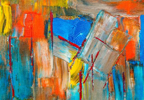 colorful abstract painting  stock photo negativespace