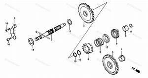 Honda Atv 1985 Oem Parts Diagram For Kick Starter