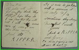 The gallery for --> Jack The Ripper Dear Boss Letter
