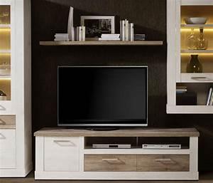 Lowboard Eiche Weiß : tv unterschrank lowboard pinie wei eiche antik 179cm neu lowboards wohnzimmer feldmann ~ Frokenaadalensverden.com Haus und Dekorationen