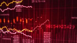 Stock Market Red Loopable Business Background Stock ...