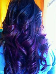 Purple and Dark Brown Ombre Hair
