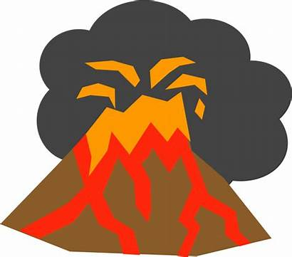 Volcano Clipart Magma Volcanic Background Explosion Clip