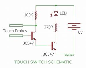 Simple Touch Switch Using Transistors