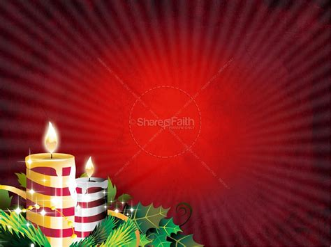christmas candles powerpoint template christmas powerpoints