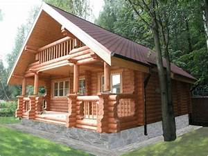 chalet en bois rondin pin de 220mm de diam rt2012 doria With prix construction maison en rondin de bois