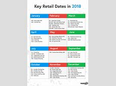 2018 Calendar Retail – Merry Christmas And Happy New Year 2018