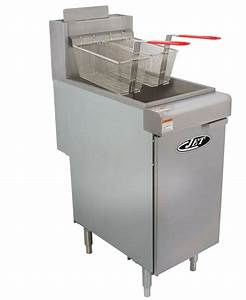 Commercial 40lb 3 Tube Floor Gas Deep Fryer 90 000btu  Hr