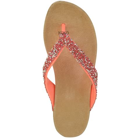 womens comfort summer low wedge sandals jelly flip flops cushioned size ebay