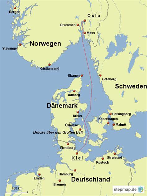 stepmap kiel oslo landkarte fuer deutschland