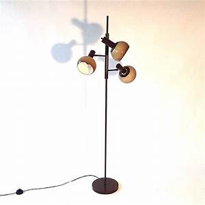 vintage floor lamp 3 spots brown beige sold tante eef With buy retro floor lamp