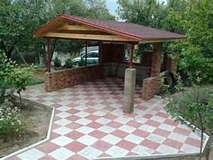 Pavillon selber bauen gartenpavillon selber bauen for Französischer balkon mit pizzaofen grill garten