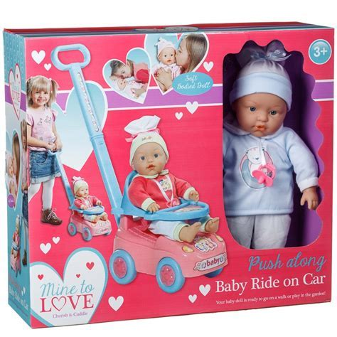 Push Along Baby Car   Dolls & Accessories   B&M
