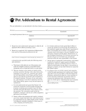 pet agreement fill  printable fillable blank