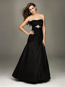 elegant strapless black wedding dresses sang maestro With elegant black wedding dresses