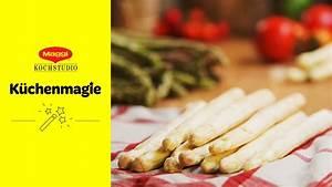 Richtig Spargel Kochen : spargel richtig aufbewahren maggi k chenmagie youtube ~ Frokenaadalensverden.com Haus und Dekorationen