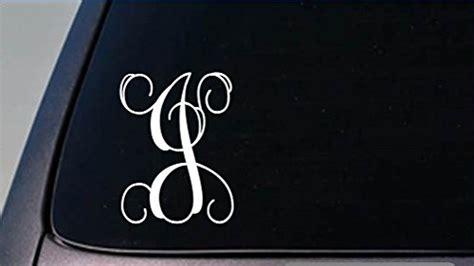 monogram  vine initial    tall sticker decal letters gift walmartcom walmartcom