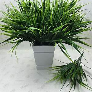 2016 New 7 fork Green Grass Artificial Plants For Plastic ...