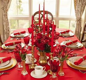 Dco Table Noel Table De Fte En Rouge Et Or Ct Maison