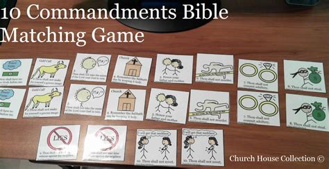 Provides an enormous selection at excellent value with strong customer service & support. Church House Collection Blog: 10 Commandments Bible Matching Game (Printable)