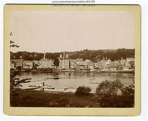 Vintage maine images item hallowell viewed from