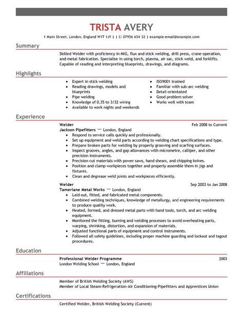 live careers best welder resume example livecareer