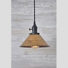 Unfinished Copper Spun Cone Industrial Pendant Light Fixture