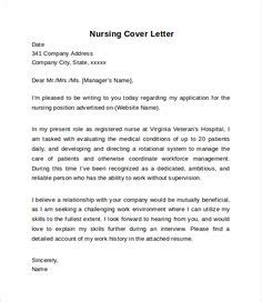 Cover Letter For Resume Exles by 11 Best Nursing Cover Letter Images On In 2018