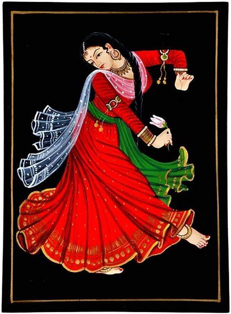dancing girl nirmal painting
