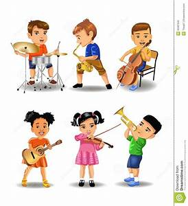 Kids Playing Music Clipart - ClipartXtras