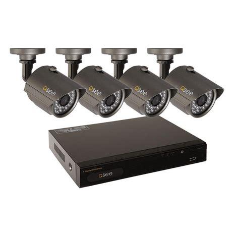 q see premium series 4 channel d1 500gb surveillance system with 4 900tvl