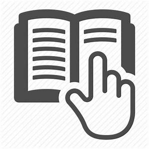 Book  Learning  Manual  Pointer Finger  Reading  Textbook Icon