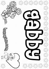 Gabby Coloring Pages Names Girly Dugles Hellokids sketch template