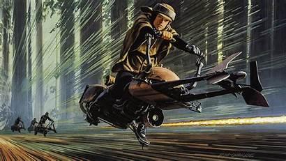 Luke Mcquarrie Endor Ralph Racing Through Speeder