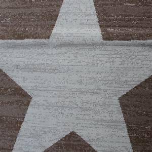 Teppich Stern Beige : designer teppich stern muster modern trendig kurzflor meliert in braun beige teppiche kurzflor ~ Whattoseeinmadrid.com Haus und Dekorationen