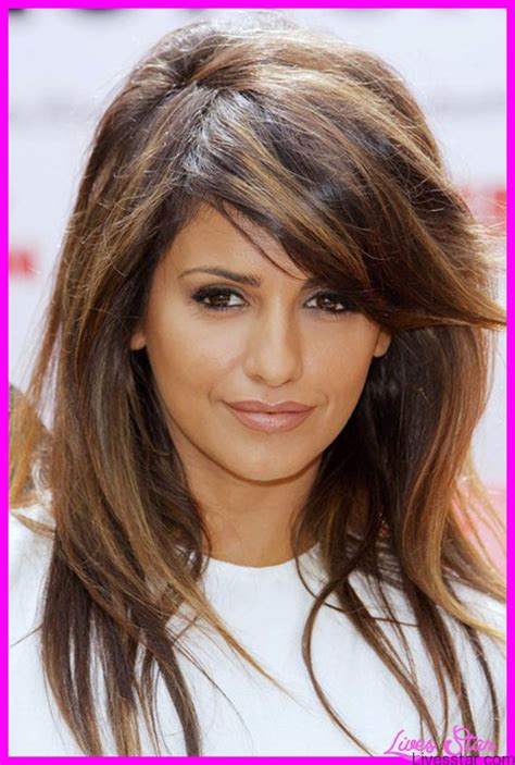haircuts with layers and side bangs layered haircuts with side bangs livesstar