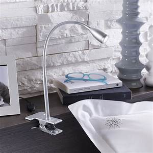 Lampe Pince Lit : lampe de bureau pince gris argent led gao inspire leroy merlin ~ Teatrodelosmanantiales.com Idées de Décoration