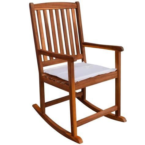 chaise bascule pas cher acheter vidaxl chaise à bascule pour jardin en acacia