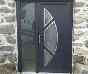 porte d39entree en pvc gris anthracite gati plastic With porte d entrée pvc en utilisant porte fenetre gris anthracite