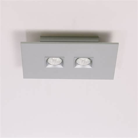 rectangular flush mount light polifemo 2 light rectangular ceiling flush mount by