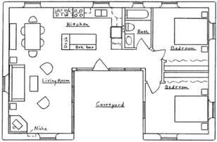 floor plans free u shaped house floor plan small u shaped house plans houses plans and designs free