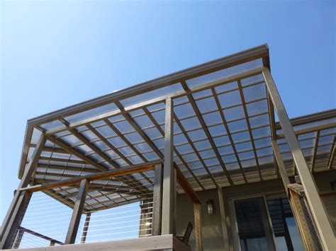 patio covers bronze translucent panels modern patio