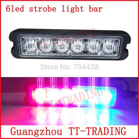red led vehicle warning lights ultrathin 6led police strobe lights vehicle strobe light