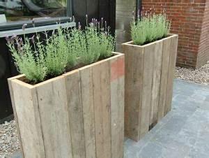 une jolie jardiniere a faire en palette bois With brise vue avec jardiniere 9 transformer une palette en bois en jardiniare deco