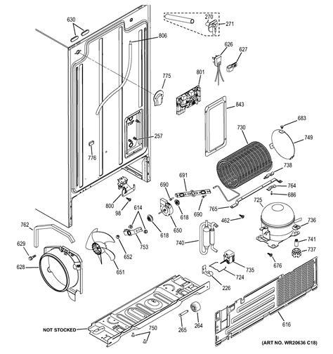 ge model gshjsdbss side  side refrigerator genuine parts